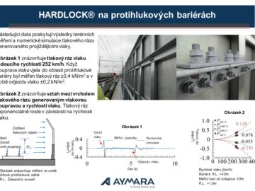 Matice HARDLOCK® na protihlukových bariérách