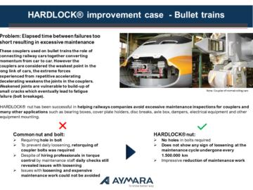 HARDLOCK® improvement case – High-speed Trains