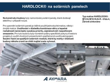 Matice HARDLOCK® na solárních panelech