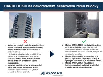 HARDLOCK® na dekorativním hliníkovém rámu budovy